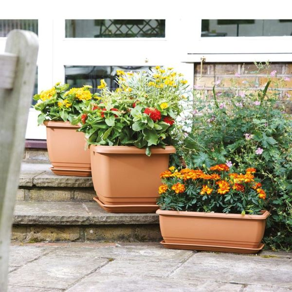 50cm Balconniere Trough Terracotta