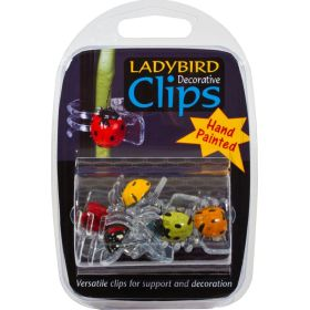Orchid Clips - Ladybird Design 6 Pack