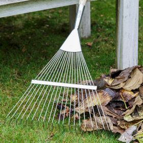 RHS Stainless Steel Flexi-Tined Lawn Rake