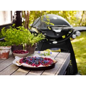 Weber Q3200 with Permanent Cart - Black