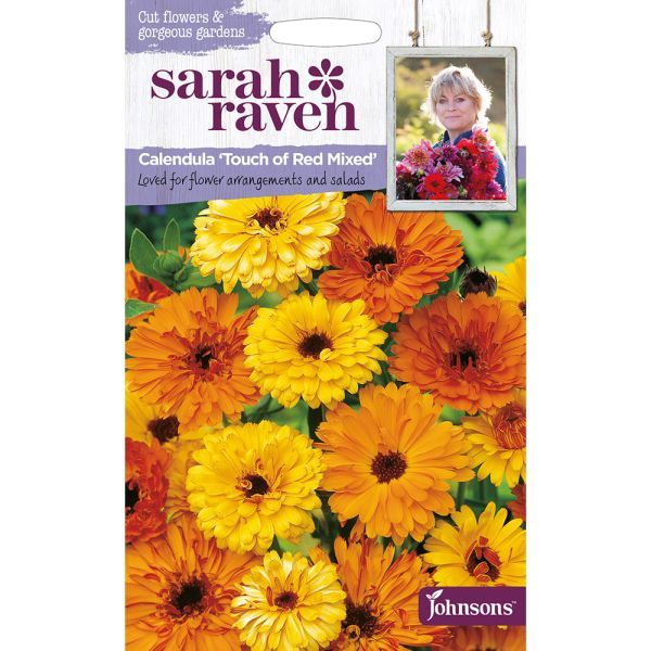 Sarah Raven - Calendula Touch Of Red Mixed