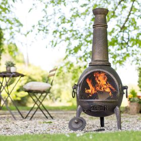 Sierra Jumbo Cast iron Chimenea with Grill