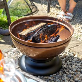 Globe Steel Enamelled Firepit With Grill