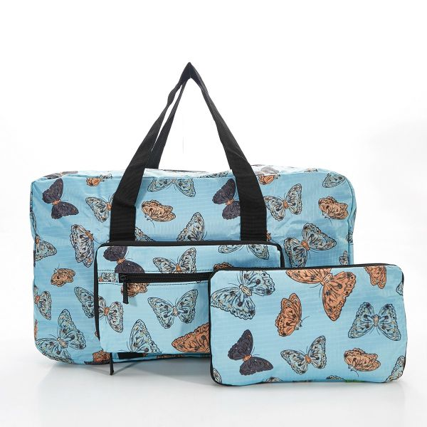 Blue Butterflies Foldable Holdall