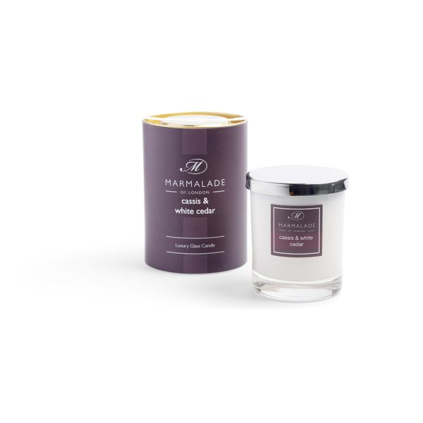 Cassis & White Cedar - Glass Candle