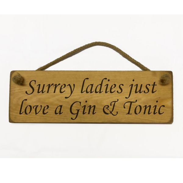 Surrey Ladies Just Love A Gin & Tonic - Natural