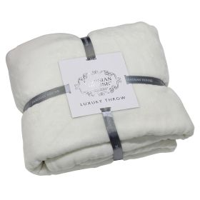 Flannel Fleece Throw Cream