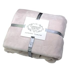 Flannel Fleece Throw Blush