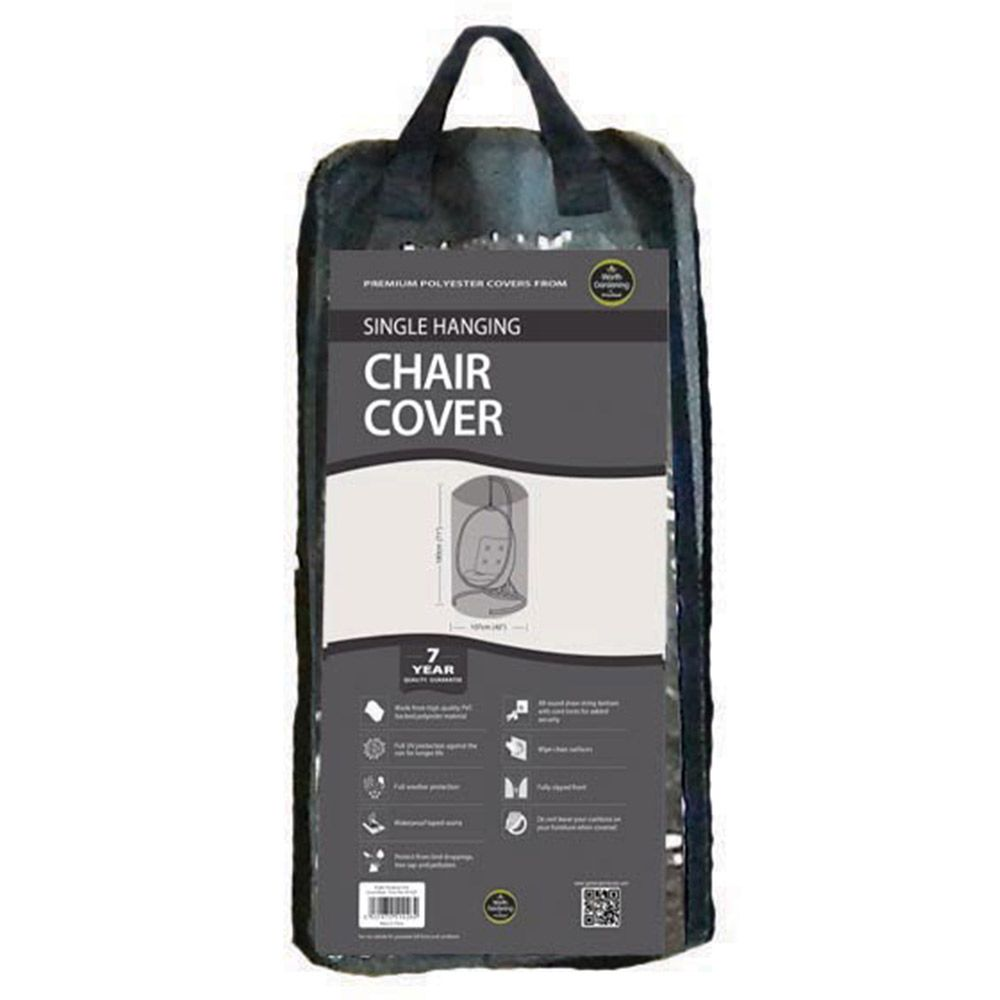 Charmant Single Hanging Chair Cover Black Larger View