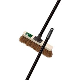 "Soft Coco Broom 28cm 11"" With Steel Handle"