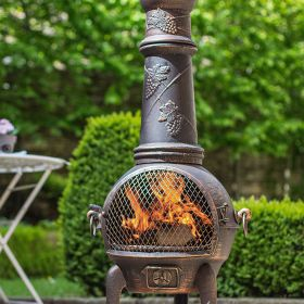 Grape Cast Iron Chimenea