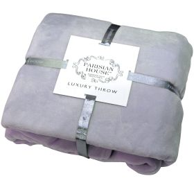 Flannel Fleece Throw Lavender