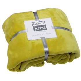 Flannel Fleece Throw Chartreuse