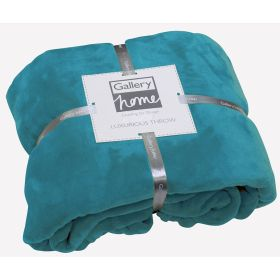 Flannel Fleece Throw Turquoise
