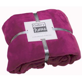 Flannel Fleece Throw Fuchsia