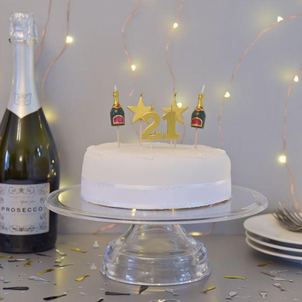 21 Birthday Candle Set