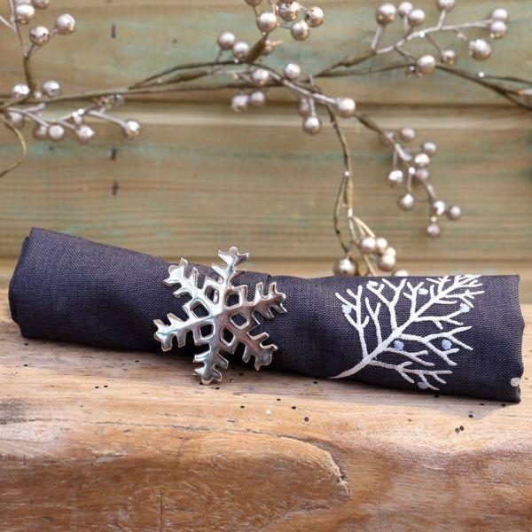 Snowflake Napkin Rings Christmas Tablewear Squires Garden Centres