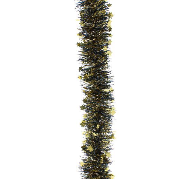 2m 10cm Luxury Chunky Cut Blue Christmas Tree Tinsel UK Made