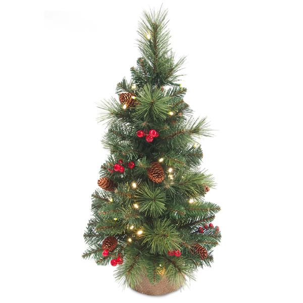 Artificial Christmas Tree With Pine Cones: Mini Pine Cone Berry Tree 60cm