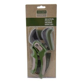 Secateur, Pouch & Pruning Knife Set