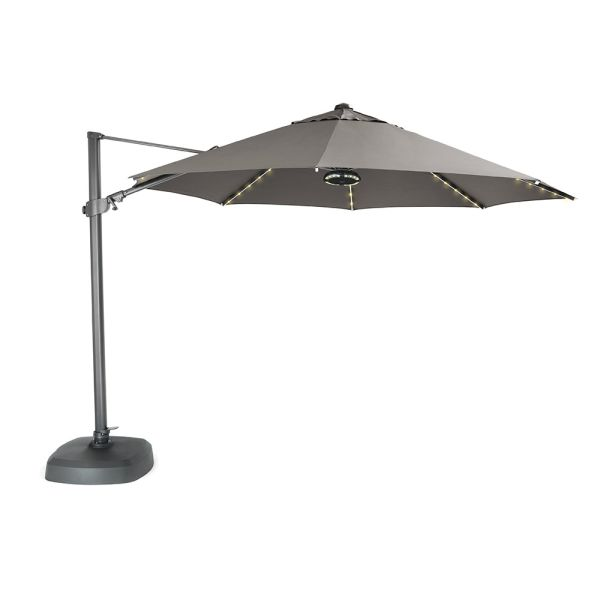 Free Arm Parasol 3 3m Led Lights And Bluetooth Speaker Parasols Gazebos Squire S Garden Centres
