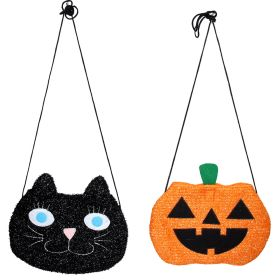 Fabric Cat and Pumpkin Bags