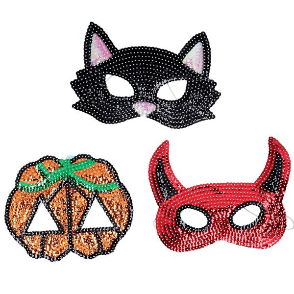 Sequin Halloween Masks