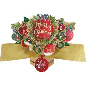 Merry Christmas Bauble Pop Up Card