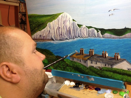 Meet The Artist Mouth And Foot Painting Demo Squires Garden Centres